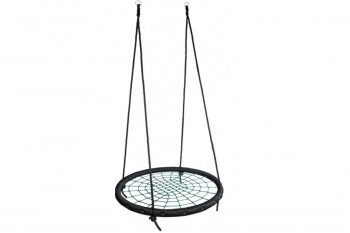 Nest Swing Round BLACK/GREEN With Ropes (sensory swing)