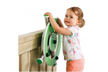 Commercial Special Need Play Equipment Steering Wheel 'x'-Stainless Steel HDPE KBT