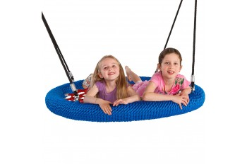 Nest Swing Round Birdie 'Commercial' 1.2m Blue and Red