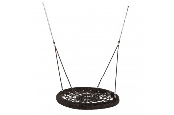 Nest Swing Round Birdie 'Commercial' 1.2m Black and Black