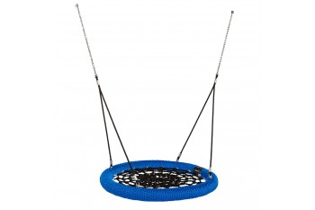Nest Swing Round Birdie 'Commercial' 1.2m Blue and Black