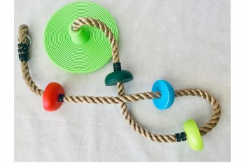 Climbing Rope with Monkey Swing and Footholds
