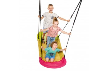 Nest Swing 'Grandoh' with adjustable Ropes (sensory swing)  - Lime/Pink