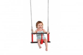 Rubber baby Swing seat  'Basic' with Chains KBT Swing Seat (Commercial- Aluminium Insert)