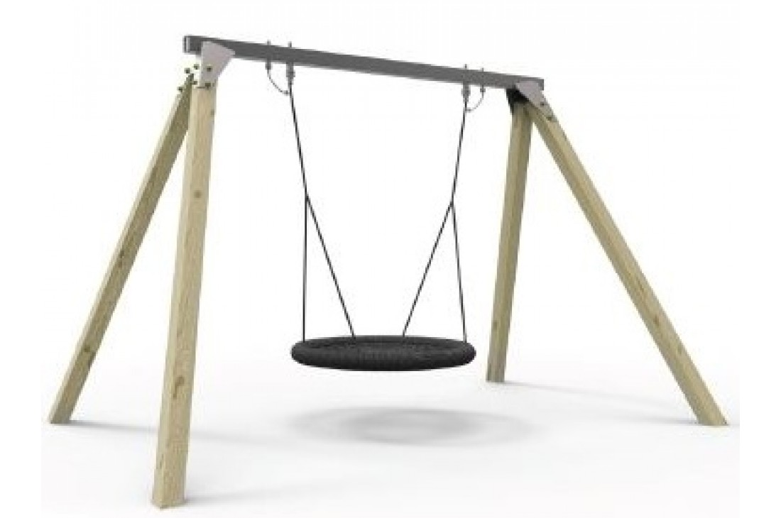 Commercial Grade Birds Nest Swing Frame. Galvanized Steel Top Bar with Timber legs (115 x 115 Cypress Timber Legs)