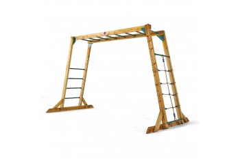 Plum Free Standing Wooden Monkey Bars