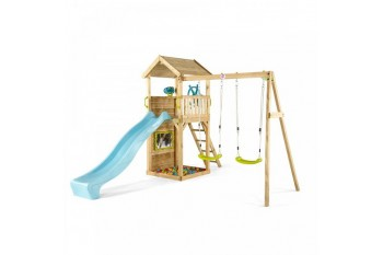 Plum 'Lookout Tower' Wooden climbing frame with Swings