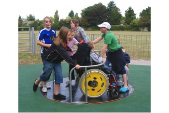 Special Needs Inclusive Wheelchair Merry Go Round Commercial Playground