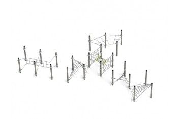 Commercial Inclusive Playground Equipment KBT Rope Structure  Climbing Net KMIRA