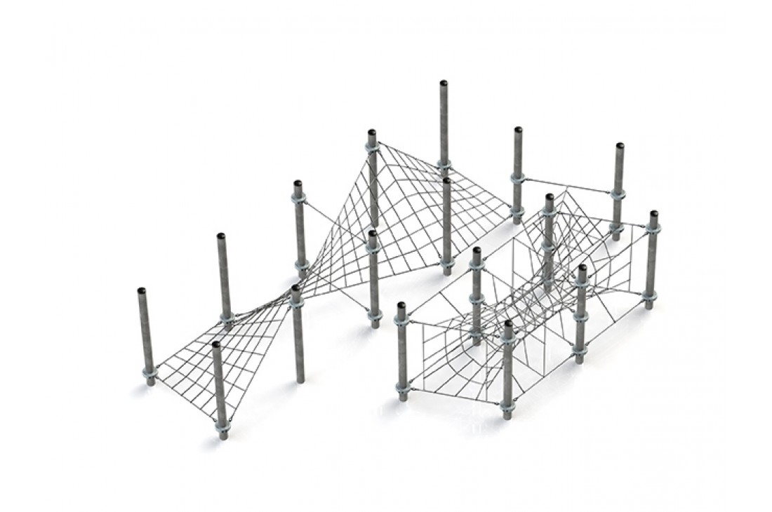 Commercial Inclusive Playground Equipment KBT Rope Structure  Climbing Net MAYA
