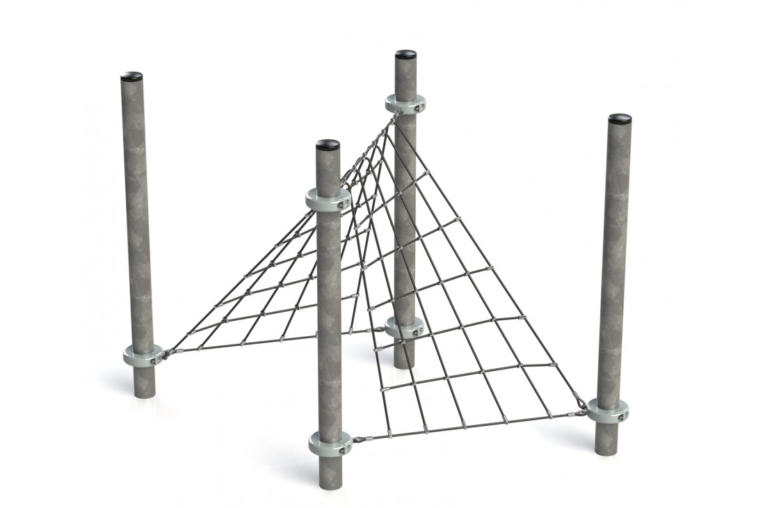 Commercial Inclusive Playground Equipment KBT Rope Structure  Climbing Net TENT