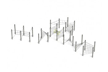 Commercial Inclusive Playground Equipment KBT Rope Structure  Climbing Net HYPER