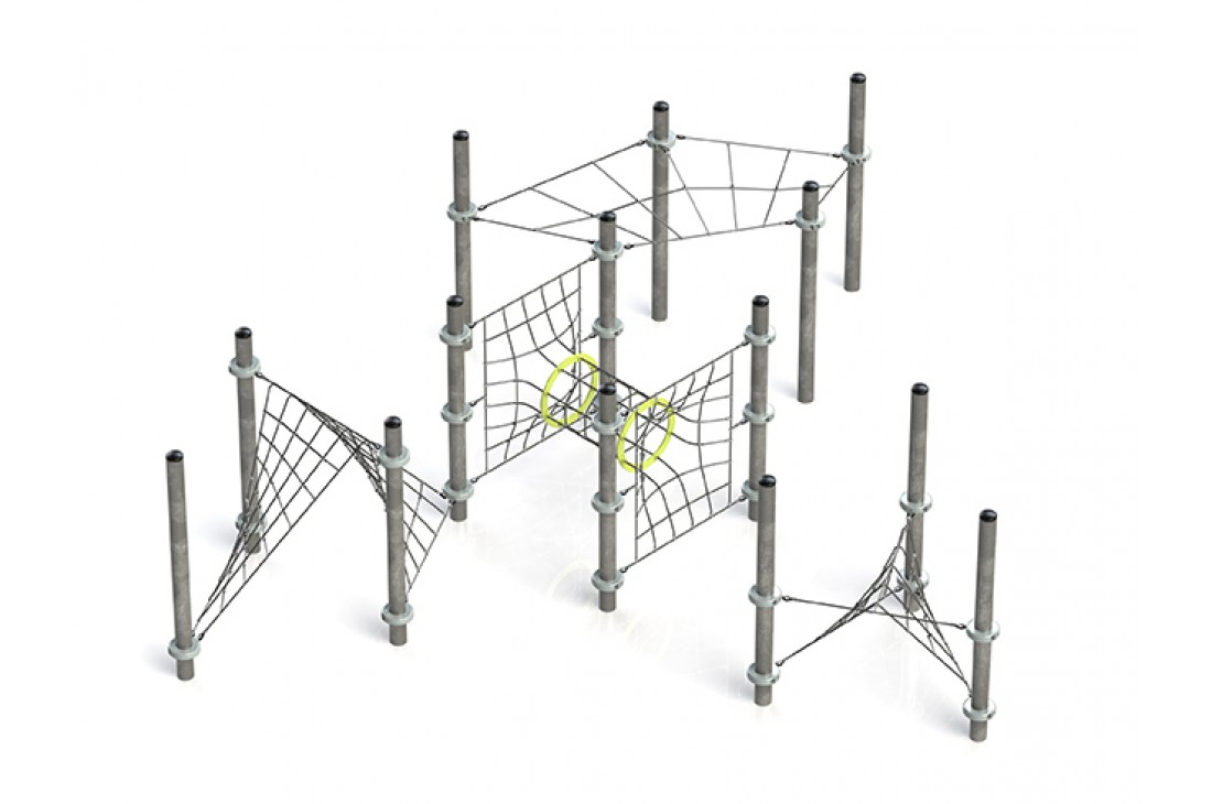 Commercial Inclusive Playground Equipment KBT Rope Structure  Climbing Net ALASHA