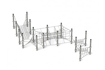 Commercial Inclusive Playground Equipment KBT Rope Structure  Climbing Net NOVENA