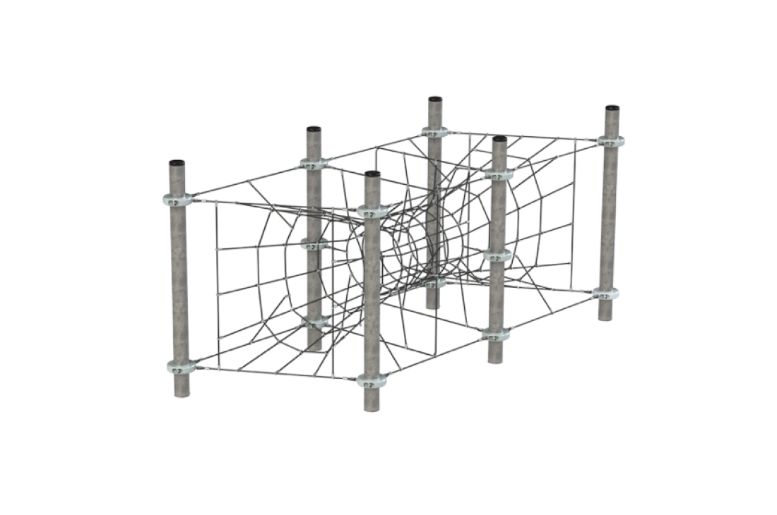 Commercial Inclusive Playground Equipment KBT Rope Structure  Climbing Net Portal