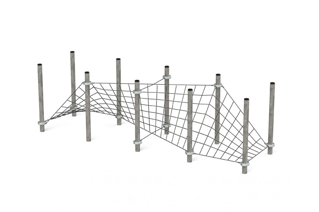 Commercial Inclusive Playground Equipment KBT Rope Structure  Climbing Net SIDEWALK