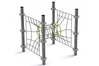 Commercial Inclusive Playground Equipment KBT Rope Structure  Climbing Net TUNNEL