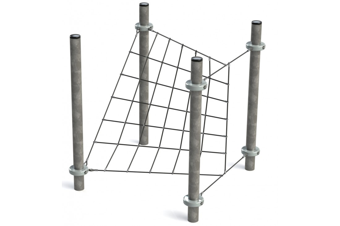 Commercial Inclusive Playground Equipment KBT Rope Structure  Climbing Net CHECKPOINT