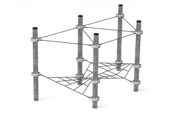 Commercial Inclusive Playground Equipment KBT Rope Structure  Climbing Net Podium