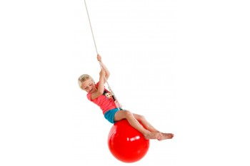 Buoy Ball 'DROP' Swing With Adjustable Rope - Red