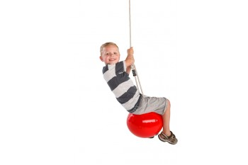 Buoy Ball 'MANDORA' Swing With Adjustable Rope - Red