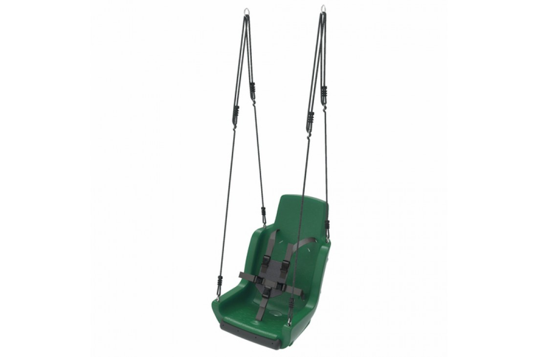 Special needs swing 'rope set' With Safety Harness  - GREEN