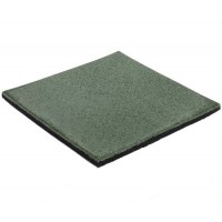 Green 35mm Rubber Softfall Tiles (2 Pcs Per Bag)