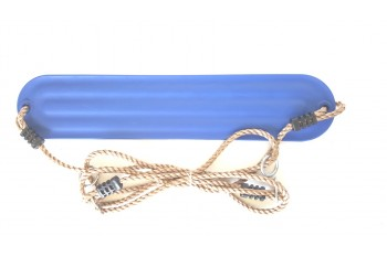 Moulded Strap Swing  Blue with Adjustable ropes