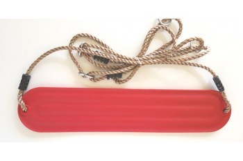 Moulded Strap Swing 'Red' with Adjustable ropes