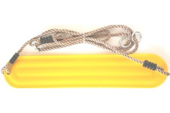 Moulded Strap Swing 'Yellow' with Adjustable ropes