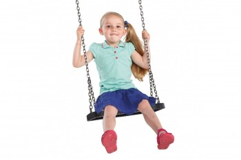 Rubber Swing Seat  'curve'  With Stainless Steel Chains KBT Swing Seat (Commercial- Aluminium Insert)