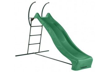"""1.5m high slide """"Tsuri"""" and ladder free standing kit with water feature - GREEN"""