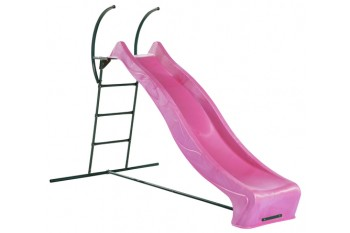 """1.5m high slide """"Tsuri"""" and ladder free standing kit with water feature - PINK"""