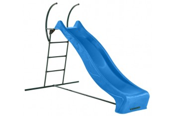 1.2m high slide 'reX' and ladder free standing kit with water feature - BLUE