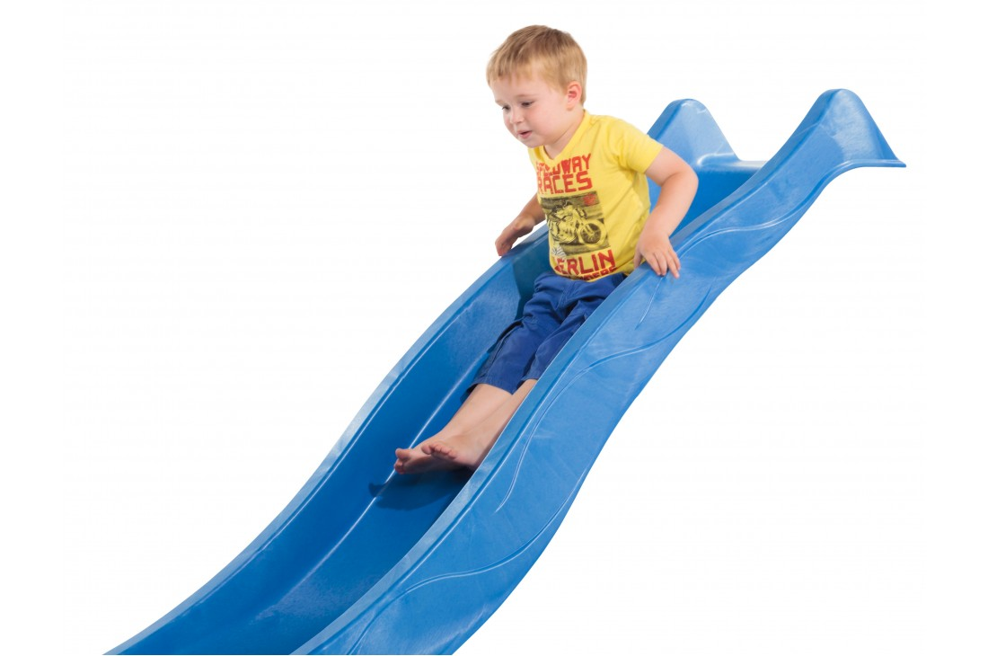 1.2m high slide 'reX' with water feature attachment - BLUE