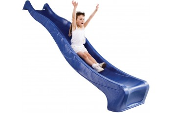 "1.5m high standalone slide ""S-line"" with water feature - BLUE"