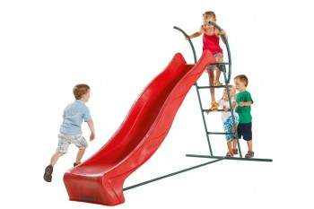 1.2m high slide 'reX' and ladder free standing kit with water feature - RED