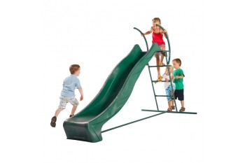 1.2m high slide 'reX' and ladder free standing kit with water feature - GREEN