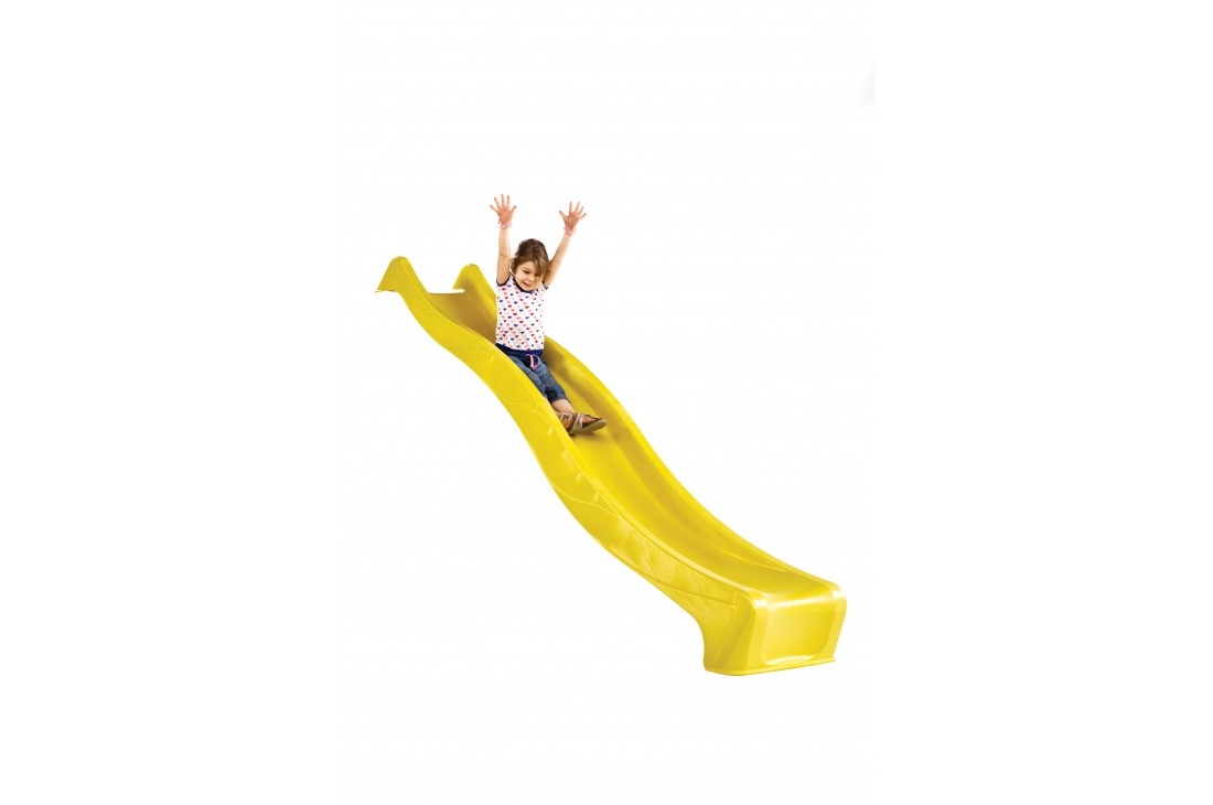 """1.5m high standalone slide """"S-line"""" with water feature - YELLOW"""