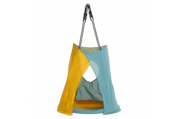 Tent Swing 'weoh' turquoise/yellow