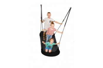 Nest Swing 'Grandoh' with adjustable Ropes  (sensory swing) Black