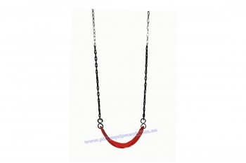 Heavy Duty Strap Swing Red with plastic coated chains