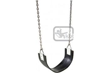 Heavy Duty 'Slashproof' Strap swing with Plastic Coated Chain