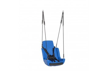 Special needs swing 'rope set' With Safety Harness - Blue